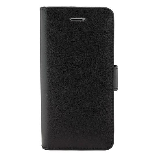 Valenta Luxury Leren Bookcase voor de iPhone SE (2020) / 8 / 7 / 6(s) - Zwart