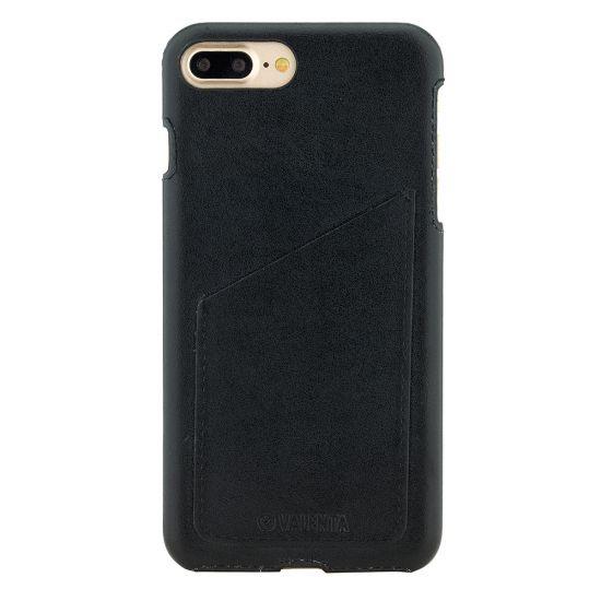 Valenta Classic Leren Backcover voor de iPhone 8 Plus / 7 Plus - Classic Black