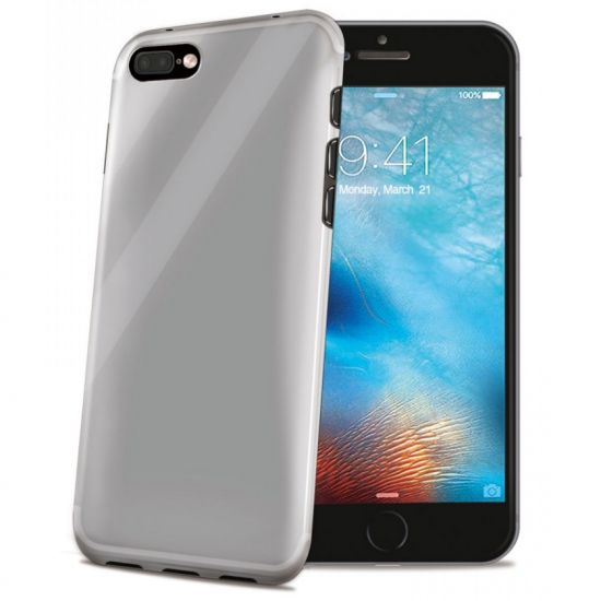 Celly Gelskin TPU Backcover voor de iPhone 8 Plus / 7 Plus - Transparant