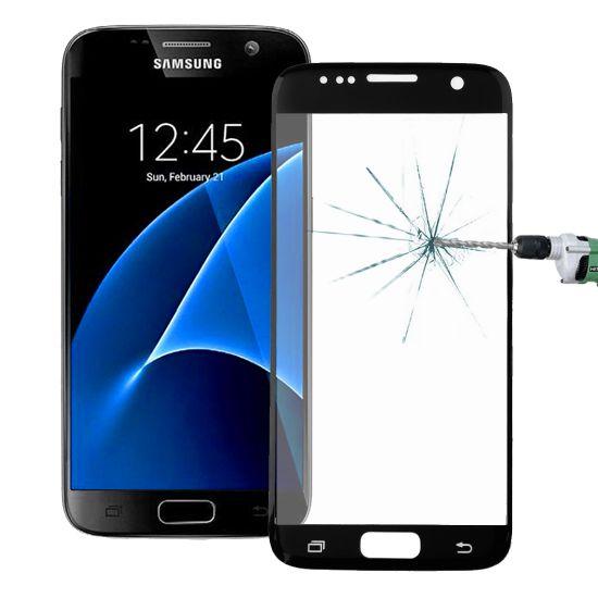 Mobigear Gehard Glas Screenprotector voor de Samsung Galaxy S7 - Zwart