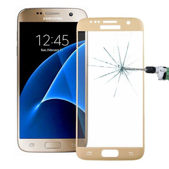 Mobigear Gehard Glas Screenprotector voor de Samsung Galaxy S7 - Goud
