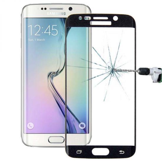 Mobigear Edge To Edge Gehard Glas  Screenprotector voor de Samsung Galaxy S6 Edge Plus - Zwart