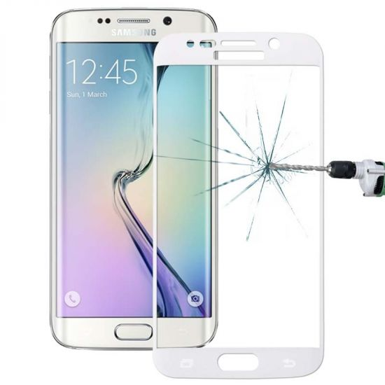 Mobigear Edge To Edge Gehard Glas Screenprotector voor de Samsung Galaxy S6 Edge Plus - Wit