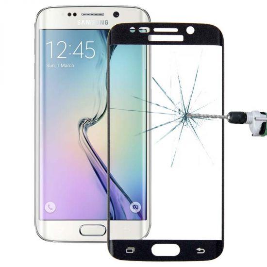 Mobigear Edge To Edge Gehard Glas  Screenprotector voor de Samsung Galaxy S6 Edge - Zwart
