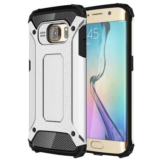 Mobigear Outdoor Hardcase voor de Samsung Galaxy S6 Edge - Zilver