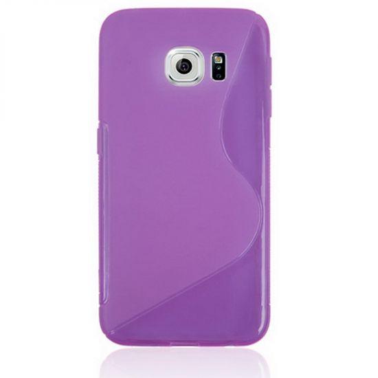 Mobigear S-Line TPU Backcover voor de Samsung Galaxy S6 Edge - Paars