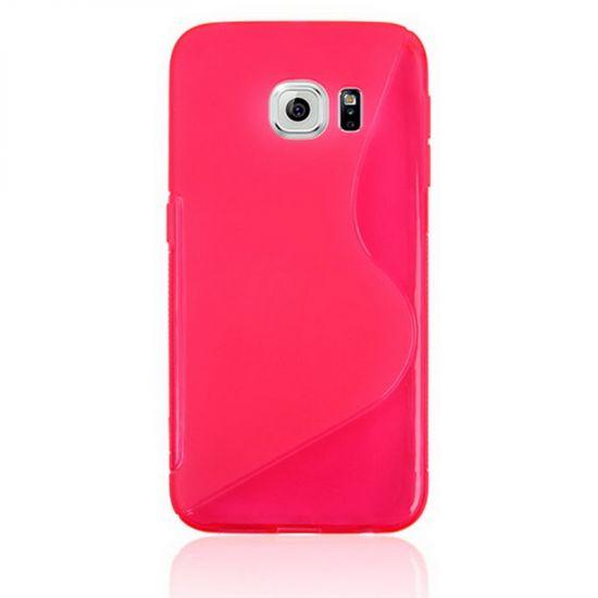 Mobigear S-Line TPU Backcover voor de Samsung Galaxy S6 Edge - Magenta