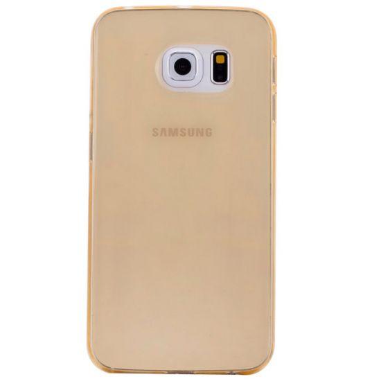 Mobigear Color TPU Backcover voor de Samsung Galaxy S6 Edge - Geel