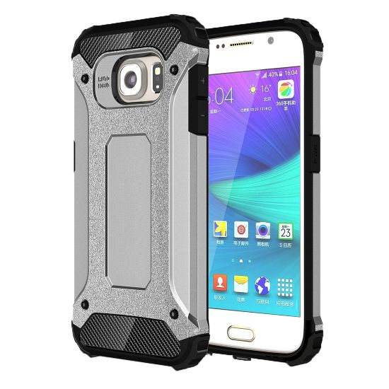 Mobigear Outdoor Hardcase voor de Samsung Galaxy S6 - Zilver