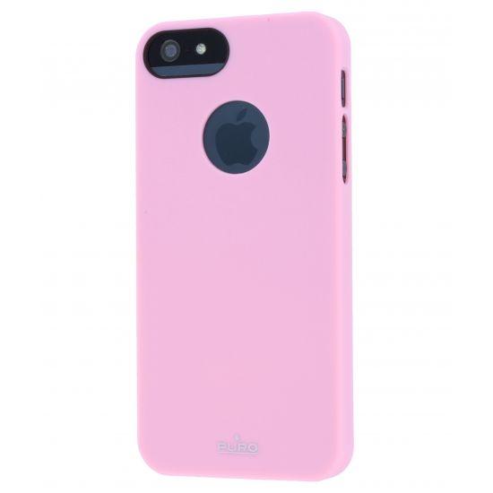 Puro Soft Touch Hardcase voor de iPhone SE (2016) / 5S / 5 - Roze