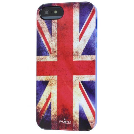 Puro Flag TPU Backcover voor de iPhone SE (2016) / 5S / 5 - Vintage Britse vlag
