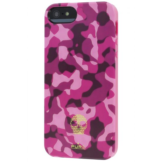 Puro Army Fluo TPU Backcover voor de iPhone SE (2016) / 5S / 5 - Roze