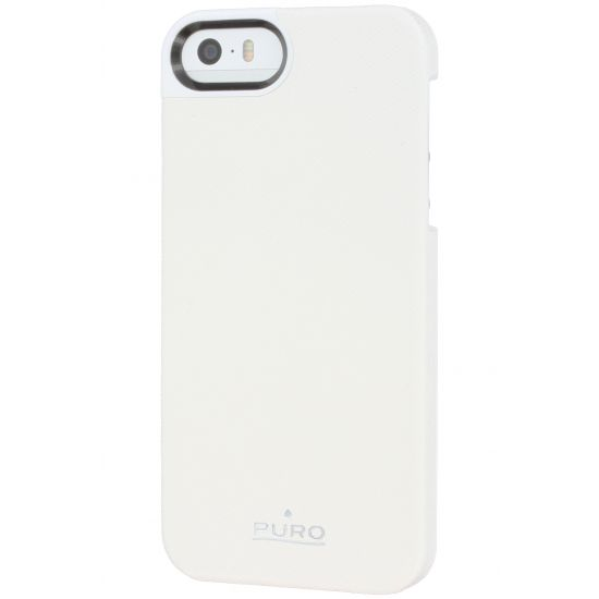 Puro Eco-Leather Backcover voor de iPhone SE (2016) / 5S / 5 - Wit