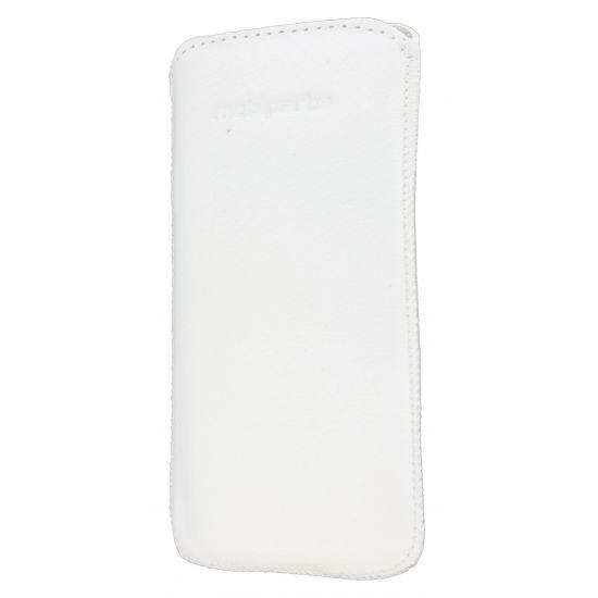 Mobiparts Luxury Pouch Leren Insteekhoes voor de iPhone SE (2016) / 5S / 5C / 5 - Wit