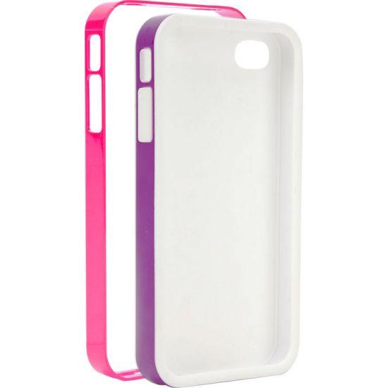 Xqisit iPlate Hardcase voor de iPhone SE (2016) / 5S / 5 - Roze / Paars