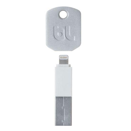 BlueLounge Kii Sleutelhanger USB-A naar Apple Lightning Kabel - Wit